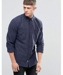 Bellfield | Темно-Синяя Рубашка В Крапинку С Двумя Карманами