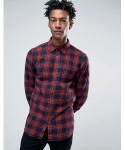 Jack Wills | Сине Фланелевая Рубашка Классического Кроя В Клетку Тартан Salcombe