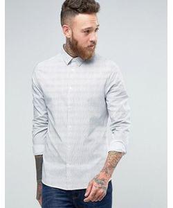 Hoxton Shirt Company | Фактурная Строгая Рубашка Слим