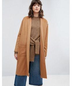 Weekday   Трикотажное Пальто Без Застежек