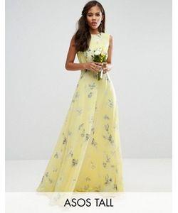 ASOS TALL | Платье Макси С Цветочным Принтом Wedding