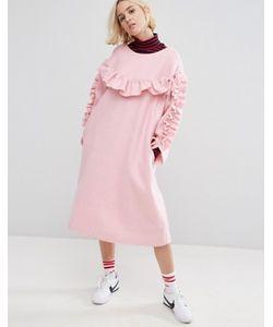 STYLE NANDA | Свободное Платье С Рюшами Stylenanda