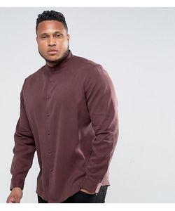 Asos | Бордовая Рубашка Классического Кроя С Воротником На Пуговице Из Лиоцелла