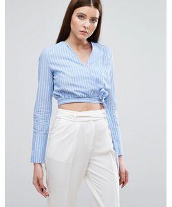 Lavish Alice   Рубашка В Полоску С Запахом На Завязке