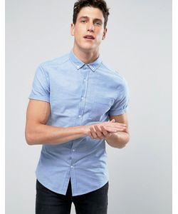 Asos | Голубая Оксфордская Рубашка Скинни