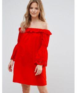 Vero Moda | Платье С Открытыми Плечами И Расклешенными Рукавами
