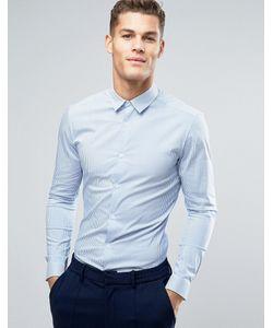 Asos | Супероблегающая Рубашка В Полоску
