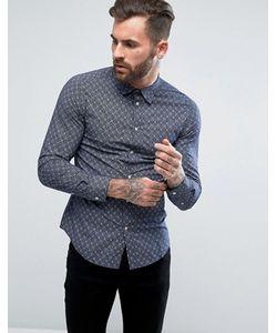 Diesel | Узкая Рубашка С Мелким Цветочным Принтом S-Blanca