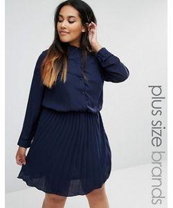 Praslin | Короткое Приталенное Платье С Плиссированной Юбкой Plus