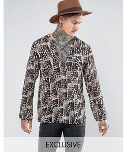 Reclaimed Vintage | Рубашка Классического Кроя Со Шнуровкой Inspired
