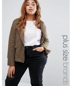 Missguided Plus | Байкерская Куртка Из Искусственной Замши Size