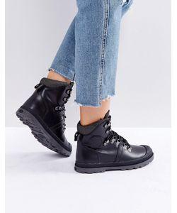 Palladium | Черные Кожаные Походные Ботинки