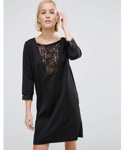 Minimum | Цельнокройное Платье С Кружевной Вставкой