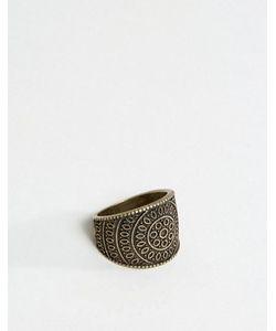 Asos | Золотистое Кольцо С Гравировкой