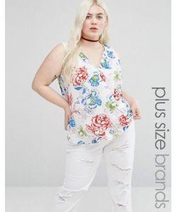 Koko | Блузка С Цветочным Принтом И Запахом Спереди Plus