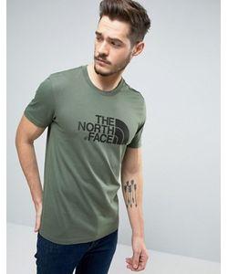 The North Face | Зеленая Футболка С Большим Логотипом