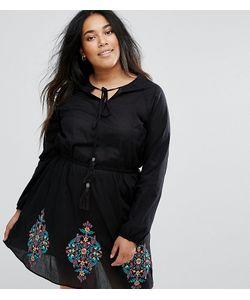Diya | Короткое Приталенное Платье С Вышивкой