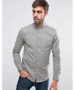 Farah | Зеленая Оксфордская Рубашка С 2-Цветным Плетением Steen