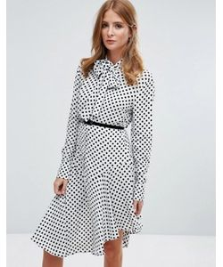 Millie Mackintosh | Платье-Рубашка Миди С Завязкой На Бант