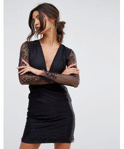 Oh My Love | Кружевное Платье Мини С Глубоким Вырезом И Открытой Спиной Oh My