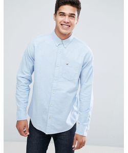 Hollister | Синяя Оксфордская Рубашка На Пуговицах