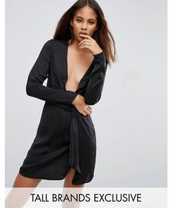 Missguided Tall | Платье С Запахом И Глубоким Декольте