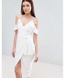 Lavish Alice | Платье Миди С Открытыми Плечами И Поясом