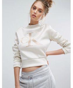 Calvin Klein | Свитшот Из Неопрена С Высоким Воротом Jeans
