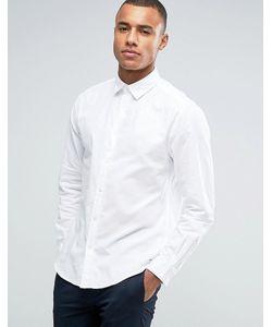 Esprit | Хлопковая Саржевая Рубашка Классического Кроя С Длинными Рукавами