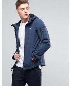 Hollister | Мягкая Темно-Синяя Куртка С Капюшоном