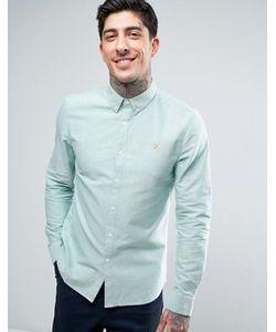 Farah | Хвойно-Зеленая Оксфордская Рубашка Слим На Пуговицах Brewer