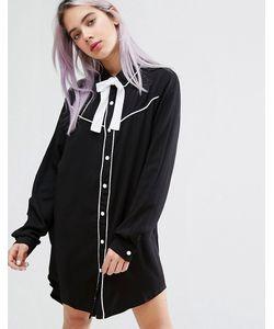 Lazy Oaf | Платье-Рубашка С Воротником В Ковбойском Стиле И Надписью Dead Inside Lazy