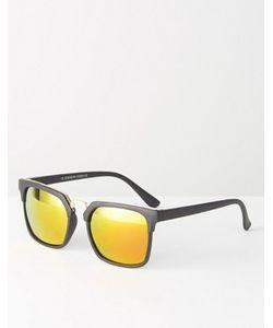 7X | Квадратные Солнцезащитные Очки С Зеркальными Стеклами