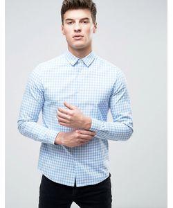 Asos | Рубашка Скинни В Мелкую Клеточку