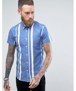 Wrangler | Полосатая Рубашка С 1 Карманом И Короткими Рукавами