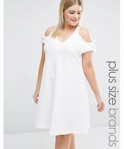 Pink Clove | Свободное Платье С Открытыми Плечами И Завязками