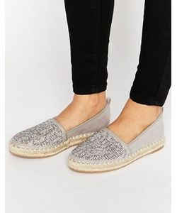 London Rebel   Jewelled Espadrille Shoes