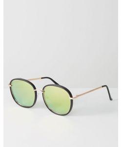 7X | Круглые Солнцезащитные Очки С Зеркальными Стеклами