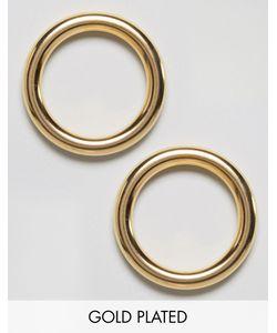 GOGO PHILIP | Позолоченные Серьги-Кольца