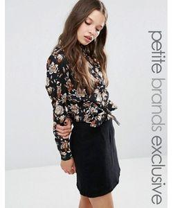 Fashion Union Petite   Блузка С Цветочным Принтом И Узлом Спереди Betty