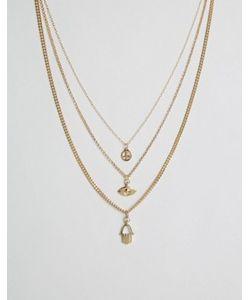 Cara Jewellery | Ожерелье В 3 Ряда Cara Ny