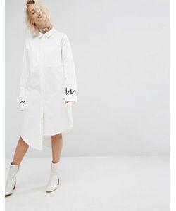 KKXX   Платье-Рубашка Со Ступенчатой Кромкой