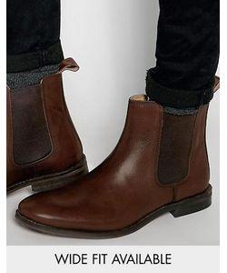 Asos | Кожаные Ботинки Челси Доступна Модель Для Широкой Стопы