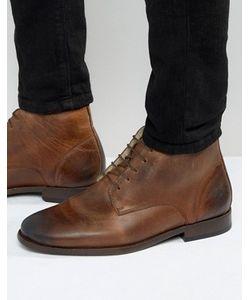 Asos | Коричневые Кожаные Ботинки Чукка На Подкладке Борг