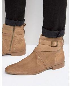 Asos | Бежевые Замшевые Ботинки Челси С Ремешками