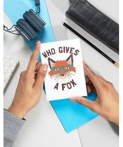 Gifts | Открытка Who Gives A Fox