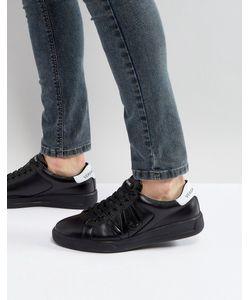 Versace Jeans | Черные Кроссовки С Логотипом