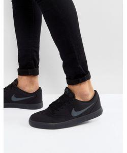 Nike SB   Черные Парусиновые Кроссовки Check Solar 843896-002