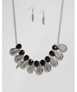 Ruby Rocks | Ожерелье И Серьги