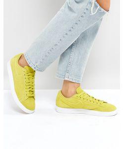 Nike   Желтые Низкие Замшевые Кроссовки Blazer